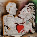 L' AMOUR, 71x60 cm copia