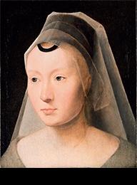 H Memling ritratto di donna 1480-1485 olio su tavola di quercia
