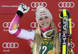 L'americana Lindsey Vonn vince la coppa di Super G a Cortina