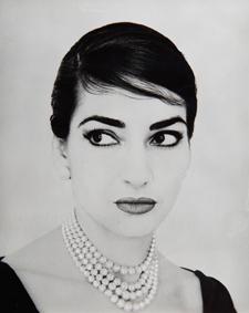 Ritratto fotografico di Maria Callas by Jerry Tiffany