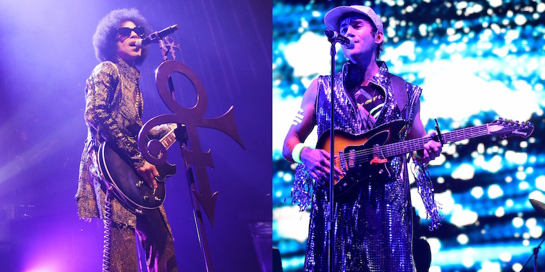 PRINCE | ph credits Chelsea Lauren Getty Images.  SUFJAN STEVENS | ph credit Frazer Harrison Getty Images per Coachella