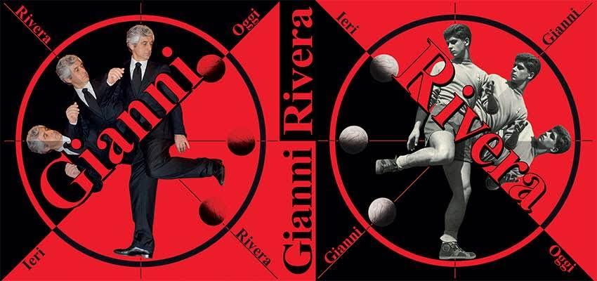 GIANNI RIVERA. IERI E OGGI. AUTOBIOGRAFIA DI UN CAMPIONE. Immagine di copertina fronte-retro